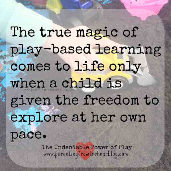 The magic of play-based learning meme