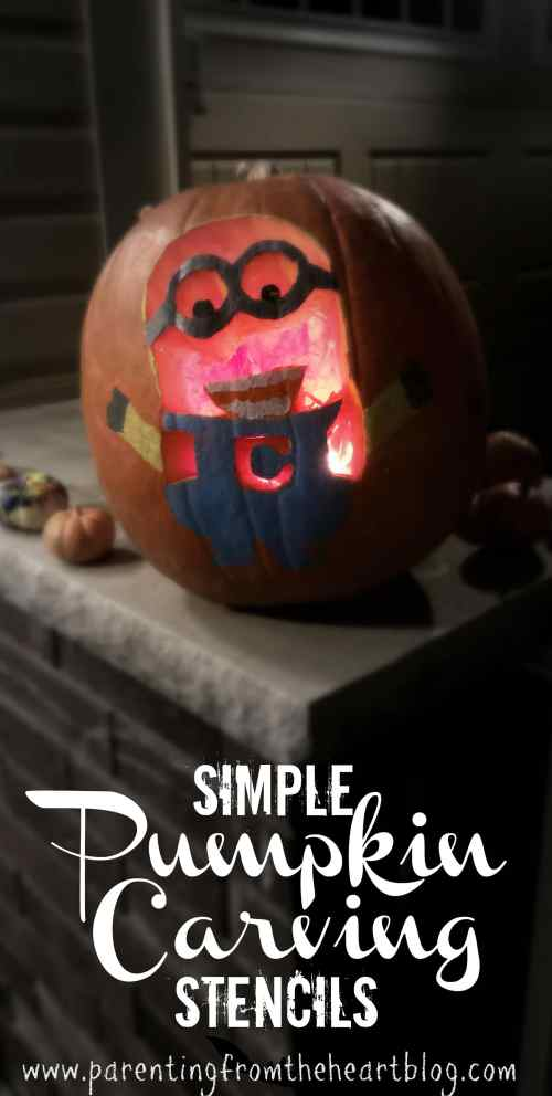 Make pumpkin carving easy with these SIMPLE DIY stencils. Make these simple pumpkin carving stencils of your kids favourite characters using stuff you already have at home. Minion pumpkin, Frozen pumpkin, Paw Patrol Pumpkin