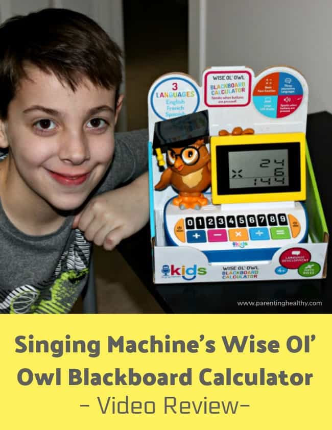 Singing Machine's Wise Ol' Owl Blackboard Calculator - Video Review