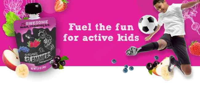 Slammers Super Food Snacks are a delicious instant organic fuel for active kids