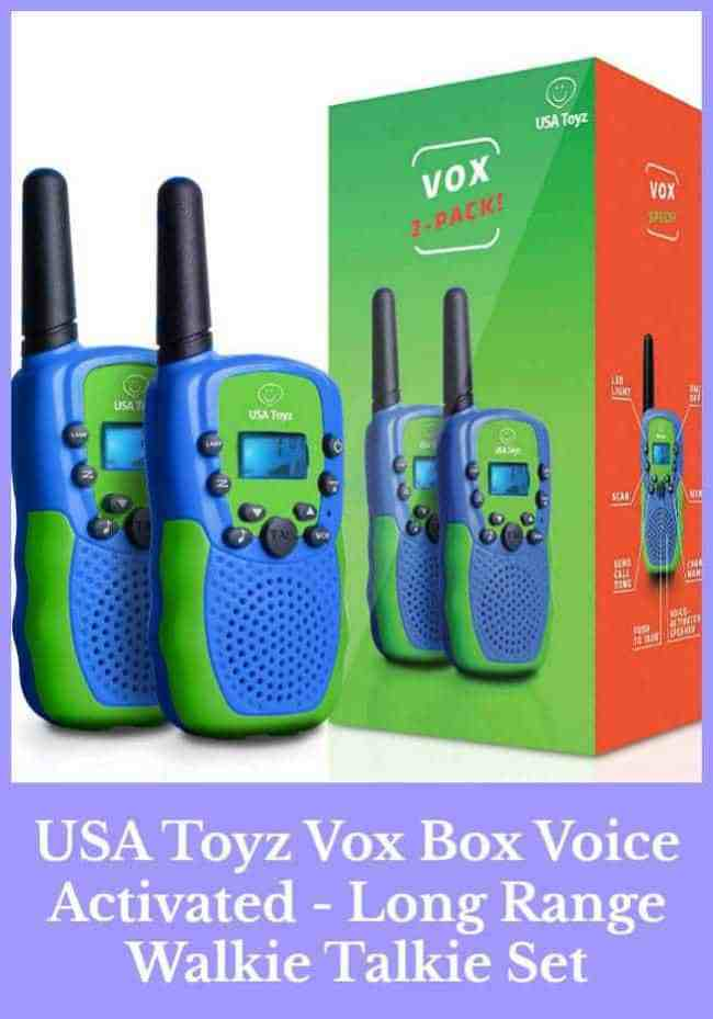 USA Toyz Vox Box Voice Activated - Long Range Walkie Talkie Set