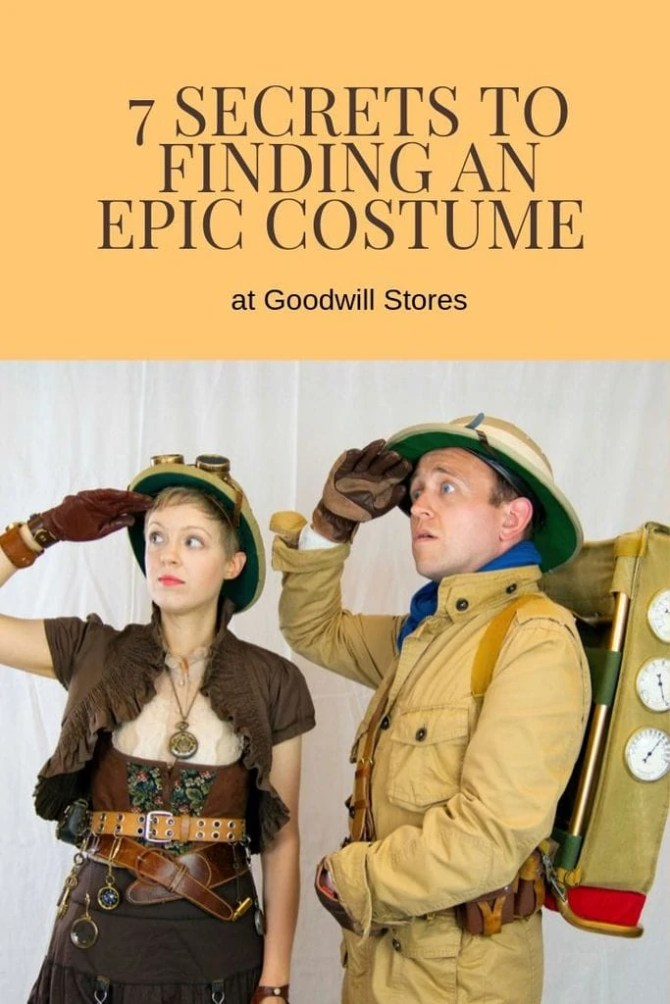 7 Secrets To Finding An Epic Costume at Goodwill Stores