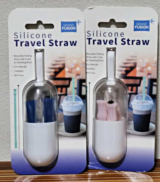 Grand Fusion Housewares Silicone Travel Straw & Brush Set