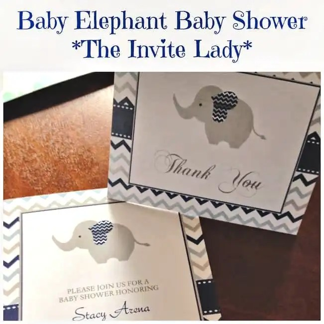 Elephant invitations