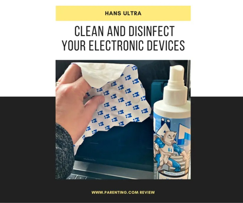 clean and disinfect your electronic devices