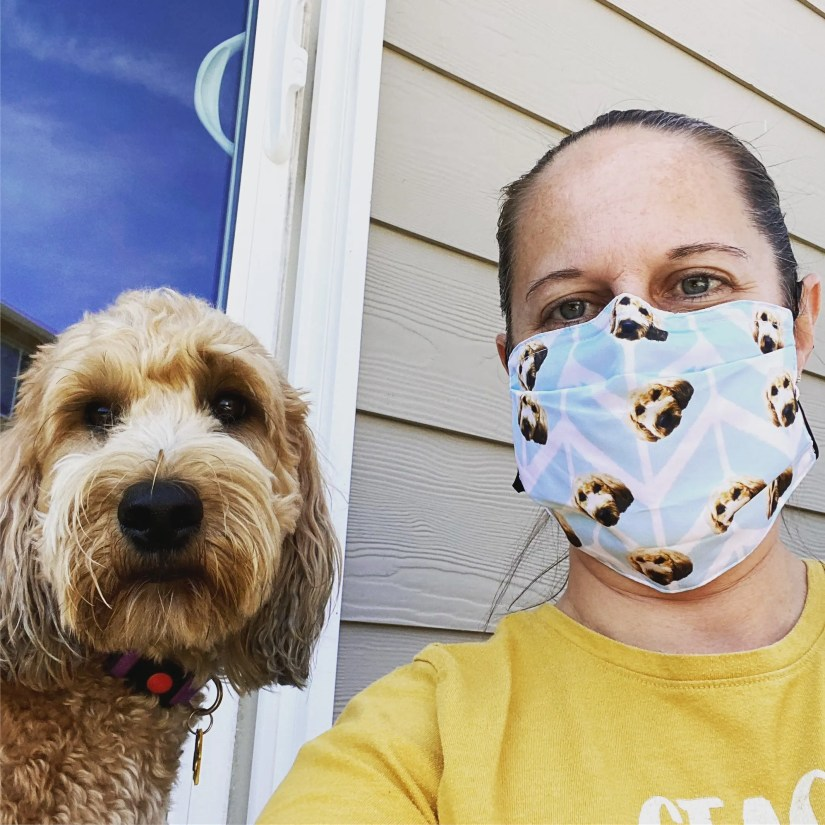 put your dog face on a mask