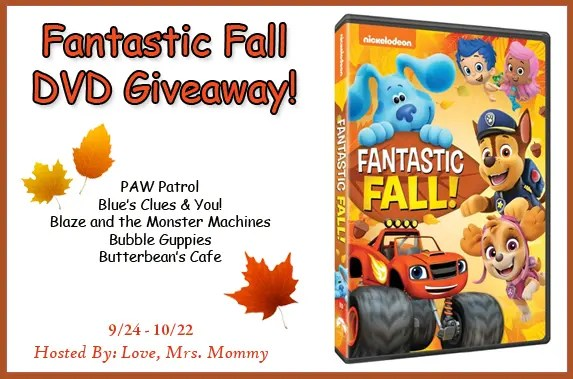 Fantastic Fall Nickelodeon DVD Giveaway! PAW Patrol and More!
