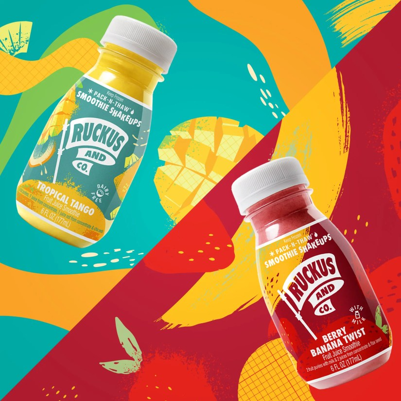 Ruckus and Co. Smoothie Shakeups frozen to fresh-made smoothie snack