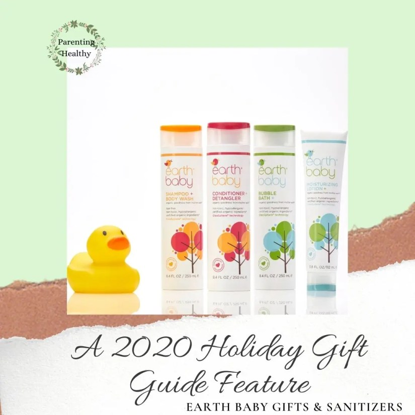 Earth BABY cleansing products and hand sanitizers that are safe for a baby