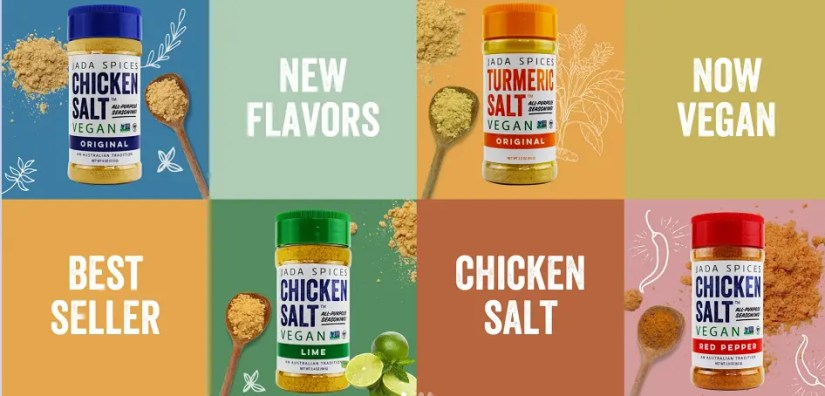 Vegan Chicken Protein & Chicken Salt Seasoning by JADA