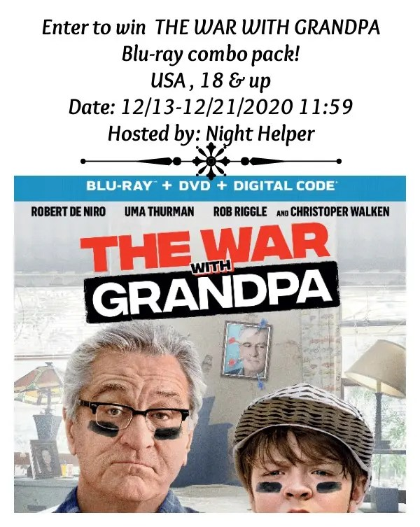 The War with Grandpa Blu-Ray Combo Pack Giveaway