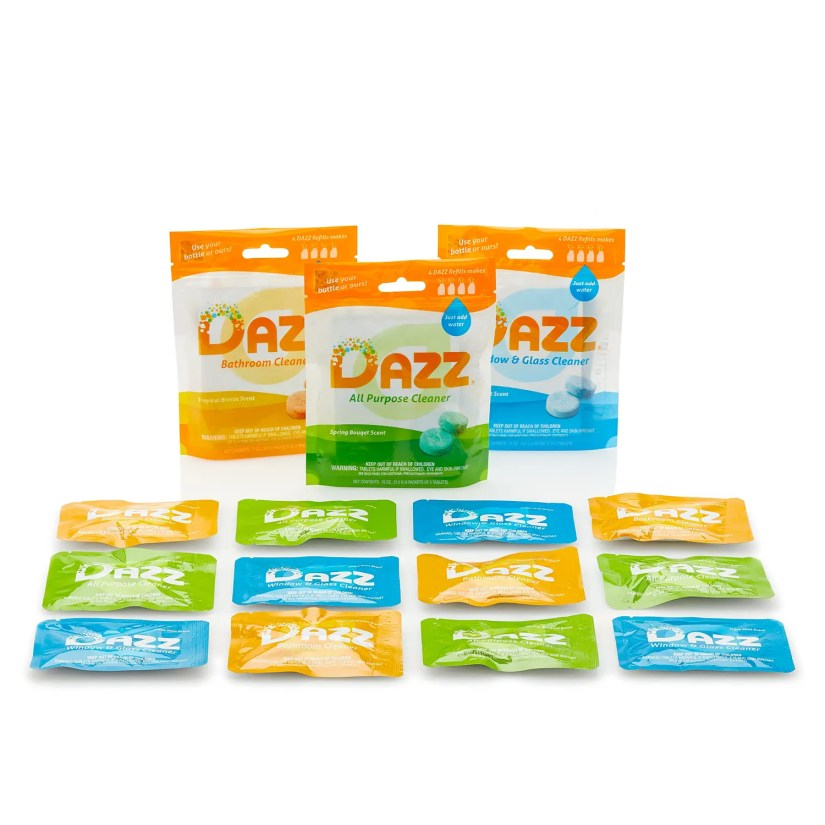 Start the New Year off cleaner with DAZZ all-natural cleaning tablets