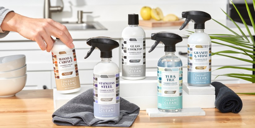 Clean Your Home Right the First Time with Therapy Clean Plant-Based Cleaners