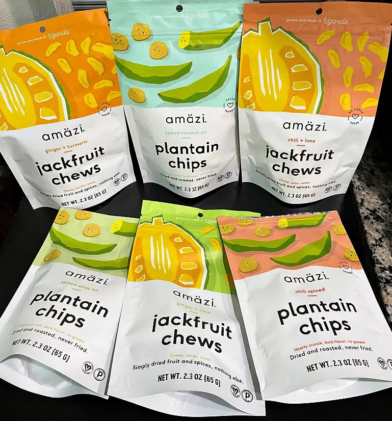 Healthy Amäzi Snacks with Real Ingredients and Women-Owned