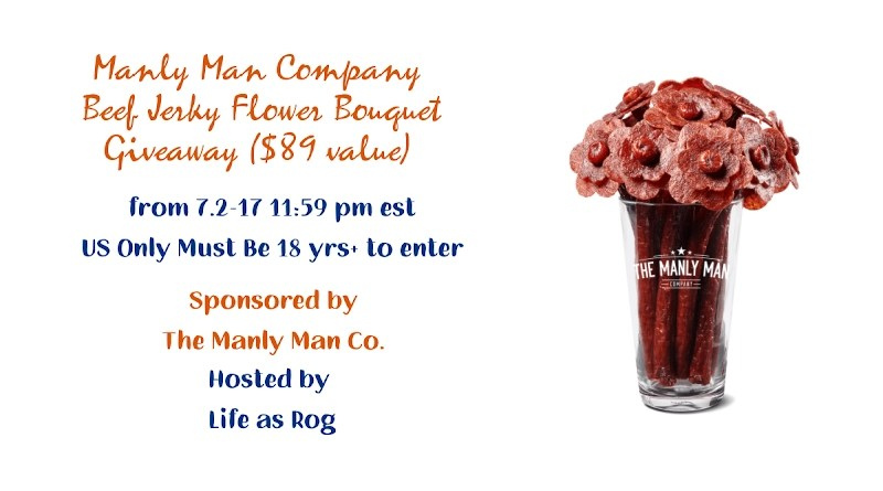 Manly Man Company Beef Jerky Flower Bouquet Giveaway ($89 value)