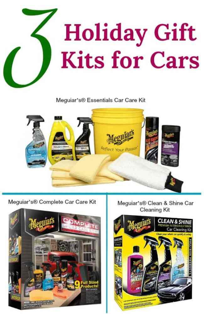 3 Meguiar's Holiday Gift Kits for Cars