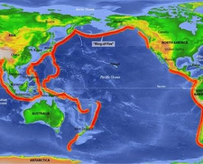 The Ring of Fire Earthquake zone