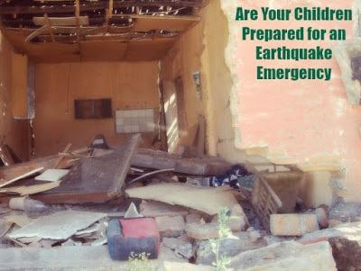 Preparing Children for an earthquake