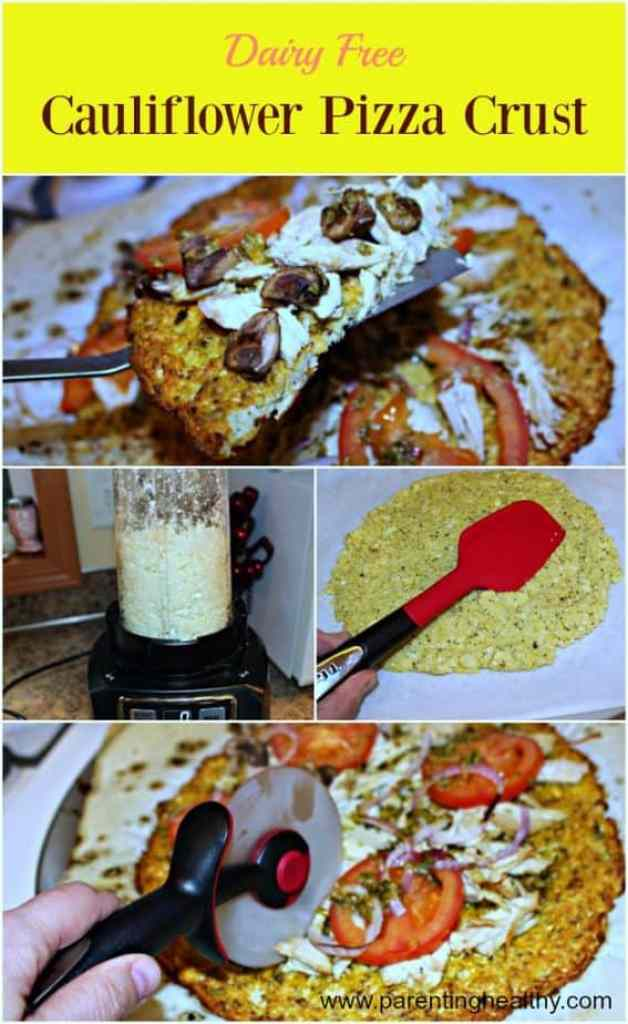 Dairy Free Cauliflower Pizza Crust