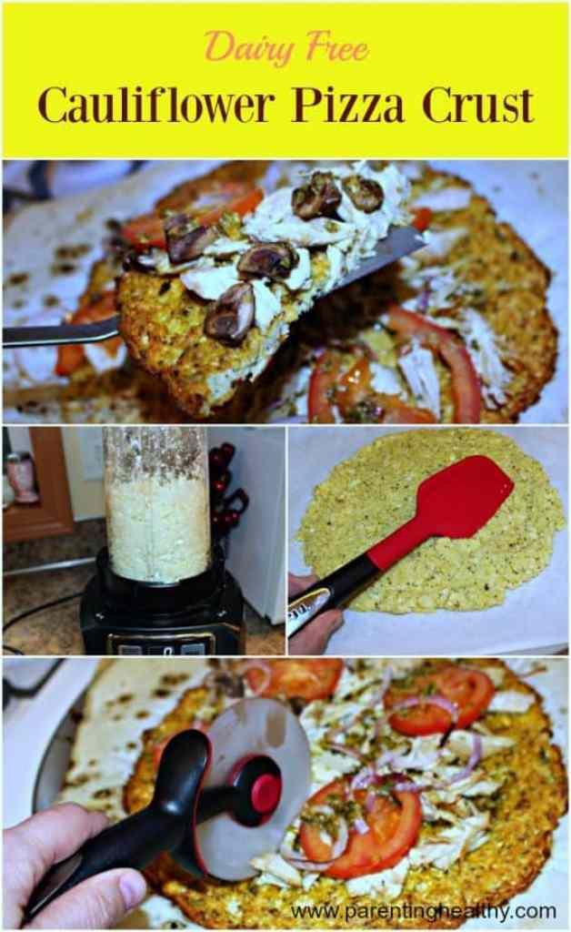 Dairy Free Cauliflower Pizza Crust