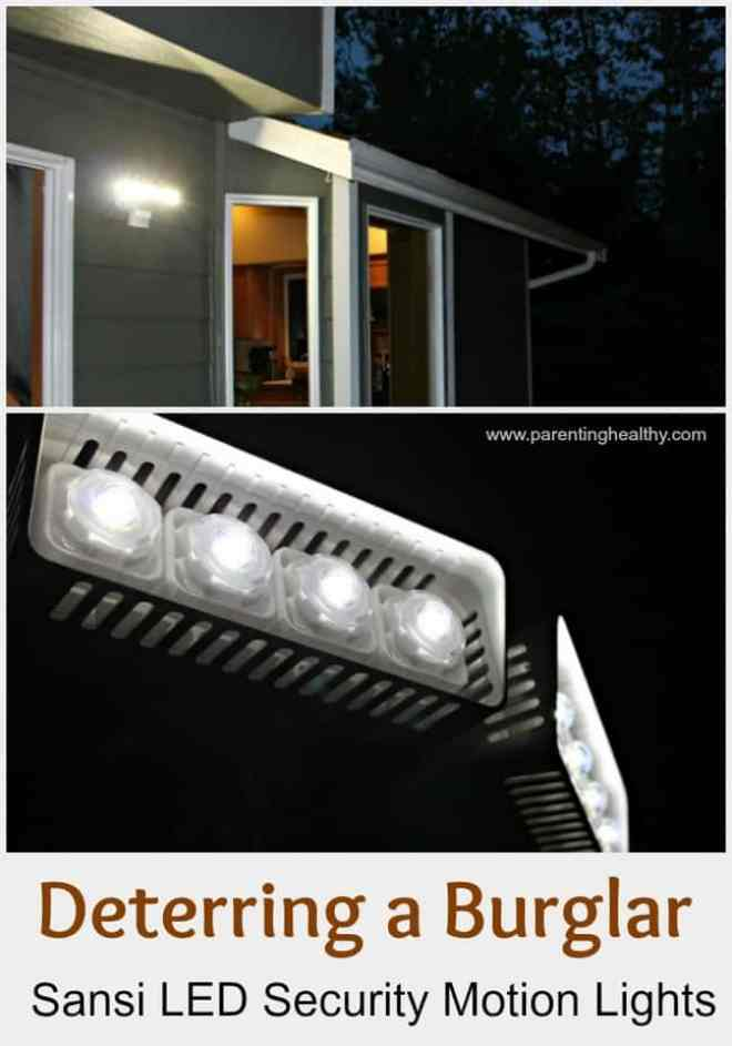 Deterring a Burglar with Sansi LED Security Motion Lights