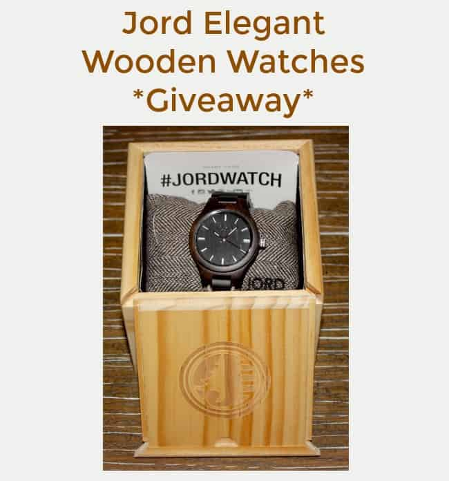 Jord Elegant Wooden Watches Giveaway