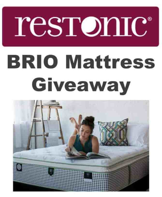 Mattress Giveaway of Restonic Brio Mattress