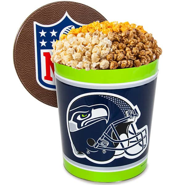 NFL Team Popcorn Tins for the Sports Fan