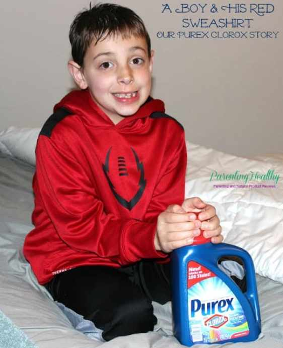 Our Purex Plus Clorox 2 Story: A Boy and His Red Sweatshirt
