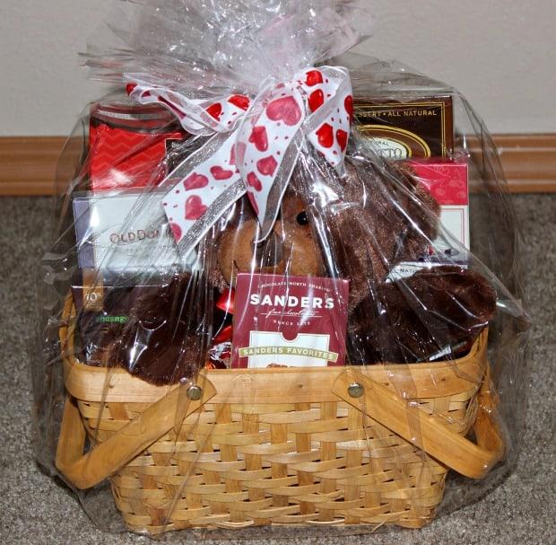 Teddy gift basket