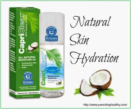 Naturally hydrate your skin with CapriClear 100% Coconut Oil spray