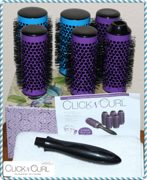 Style your hair quickly with Click n Curl