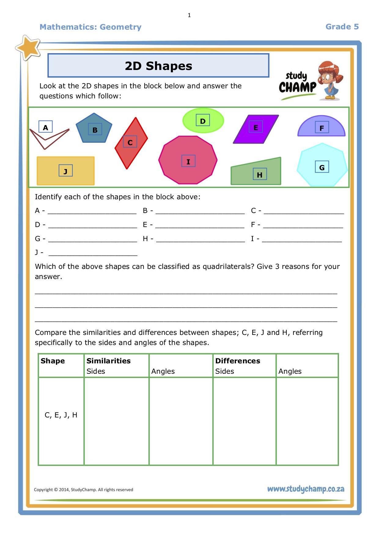 2d Shapes Worksheet Page 1 Parenting Hub