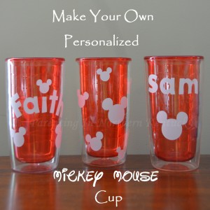 Make Your Own Personalized Mickey Mouse Tumbler Cup #DisneySide