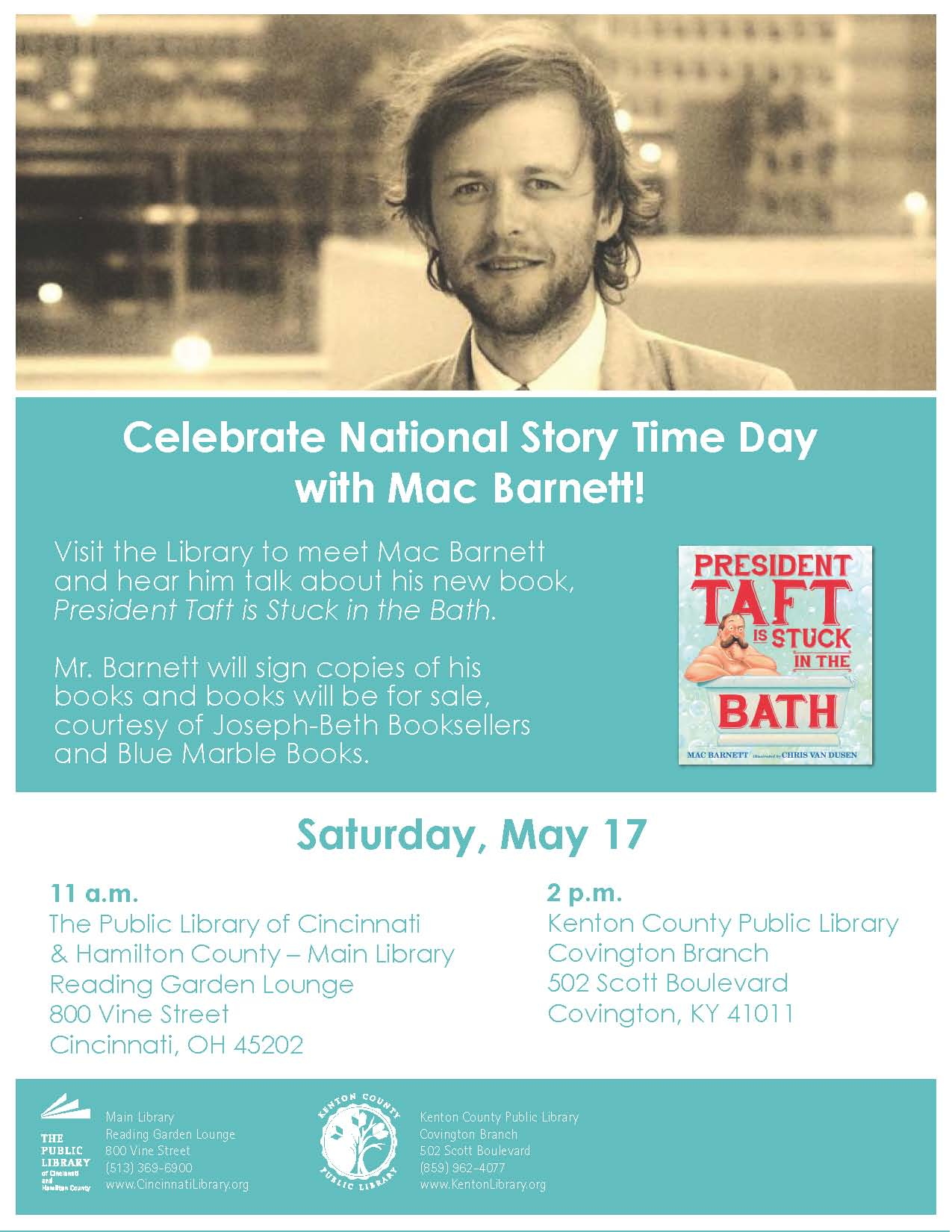 National Story Time Day Celebration w/ Author Mac Barnett
