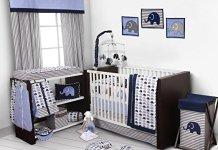 baby nursing furniture set in a room