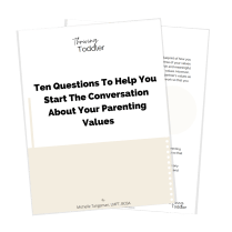 A free PDF guide is pictured, a free resource offered by the host of this research-based parenting podcast
