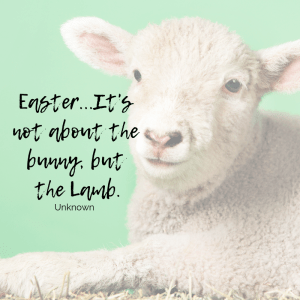 Easter is about the Lamb not the bunny