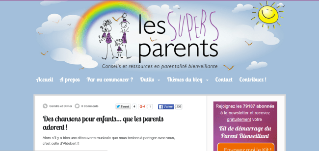 Super Parents musique Aldebert