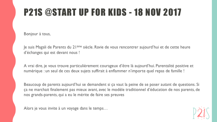 P21S Start Up for Kids intro