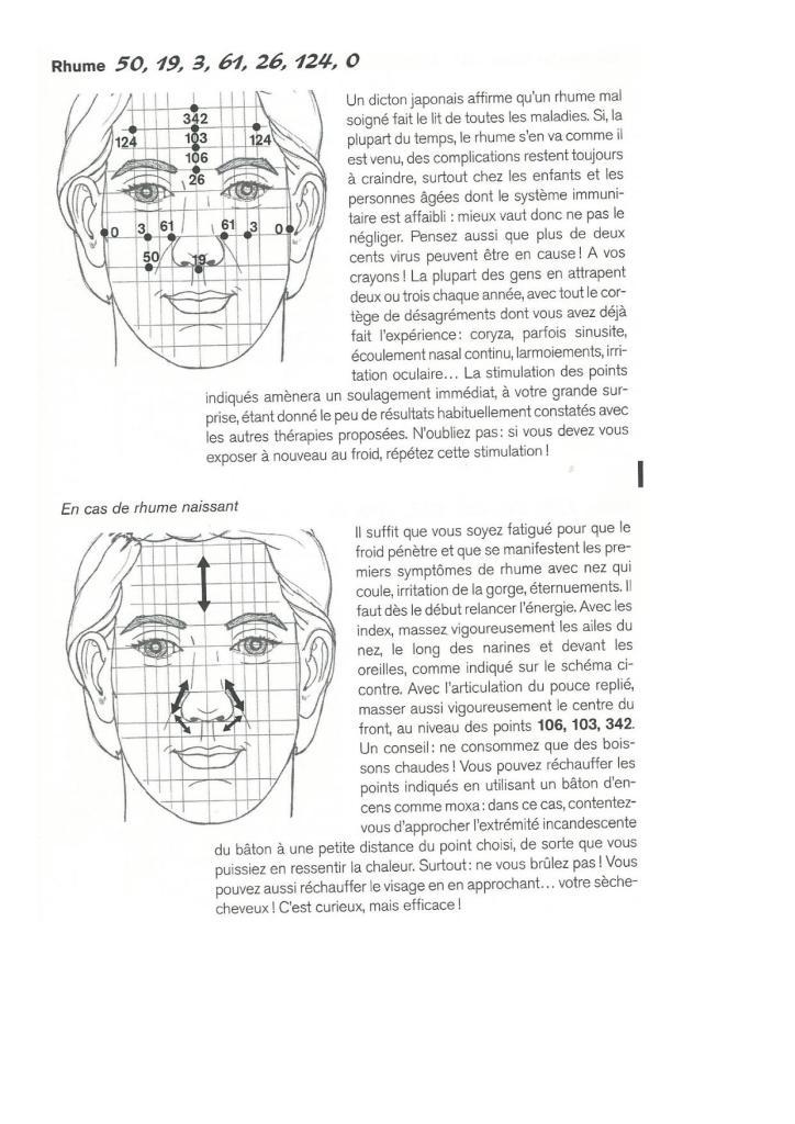 réflexologie faciale rhume enfants