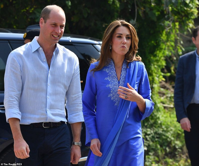 The Duke and Duchess are today visiting a school in Islamabad, which educates students between the ages of 4 and 18