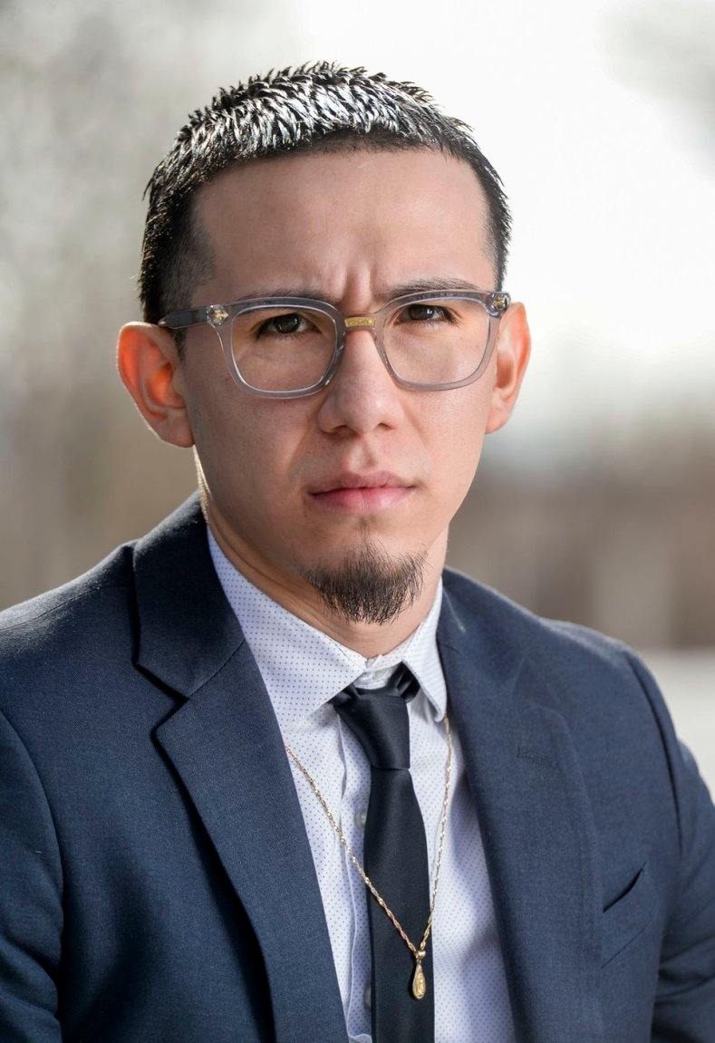 (Leah Hogsten | The Salt Lake Tribune) Luis Gustavo Lopez testified against Alan D. Covington on Feb. 18, 2020 in the U. S. District Court in Salt Lake City. Covington allegedly attempted to kill Lopez and Lopez's father, Jose Lopez, outside the family's tire shop in November 2018 because Covington believed they were from Mexico.
