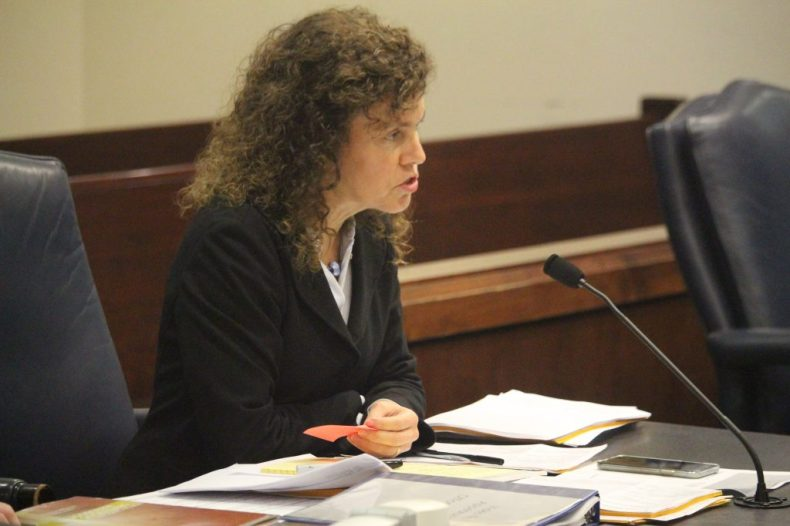 Assistant District Attorney Connie Jordan asked the court to increase Michael Earl Kelly's bond to $2 million, saying increased charges were forthcoming. (Port City Daily photo | BENJAMIN SCHACHTMAN)