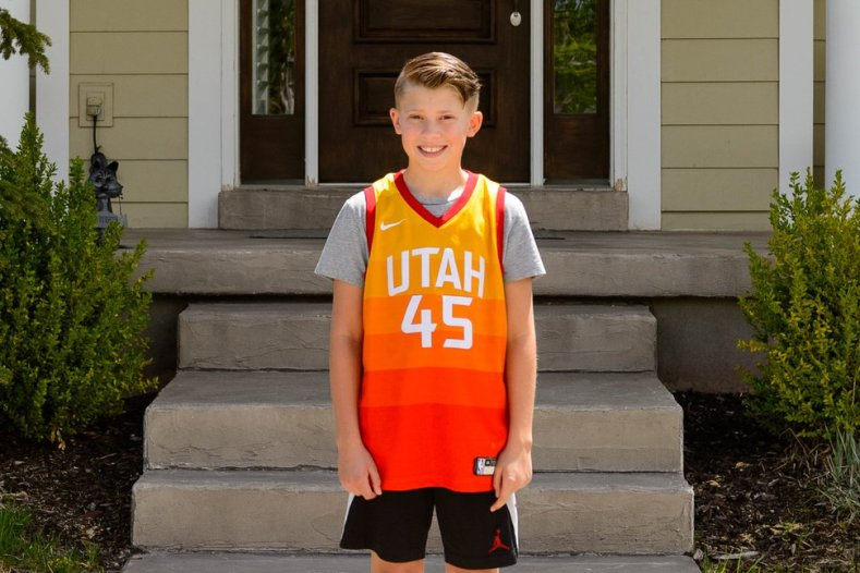 (Trent Nelson | The Salt Lake Tribune) Dexter Mason and his friend Beckley Brown live on the same South Jordan street, yet they can't hang out. Dexter was photographed at his home on Thursday, April 30, 2020.