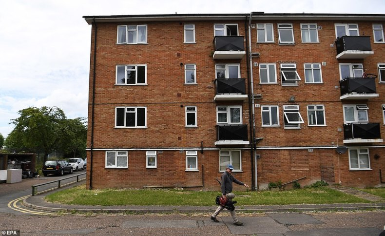 Home: Flats (pictured) believed to be the suspect's residence which was visited by armed officers