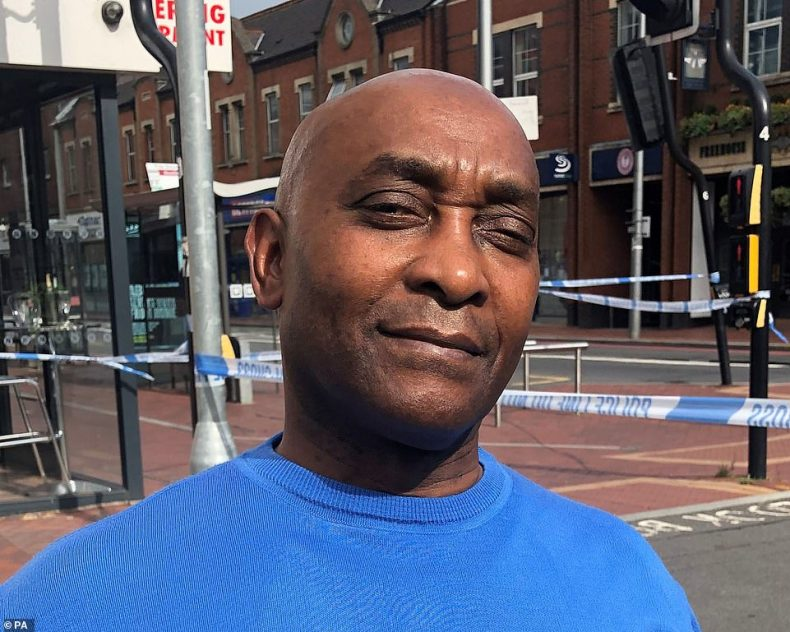 Sainsbury's security guard Sydney McDonald, 65, who saw the Reading terror suspect being rugby-tackled to the ground by police