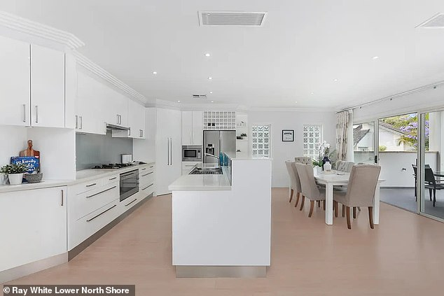 The pair spent 2.16 million on the home (kitchen pictured) afterbeing outbid for several other properties