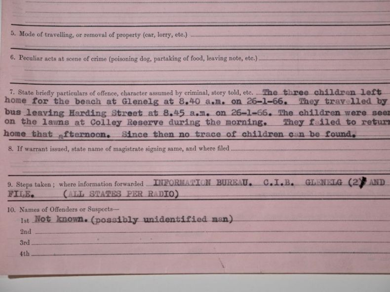 The case notes filed on the disappearance of the Beaumont children.