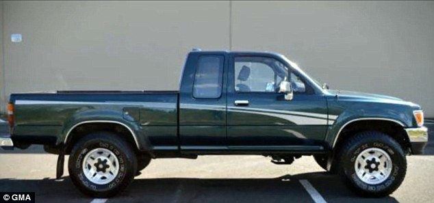 Police say the car they were in is a 1994 green Toyota extra-cab truck similar to the one shown